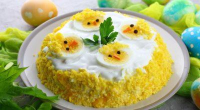 Пасхальный салат «Цыплята»: пошаговый рецепт с фото