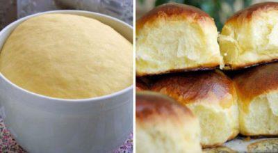 Мягкие и пышные булочки приготовленные по ГОСТу