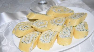 Сырные рулетики с творогом и зеленью: пошаговый рецепт с фото