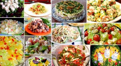 ТОП-8 рецептов салатов без майонеза на все случаи и времена. Шальная подборка