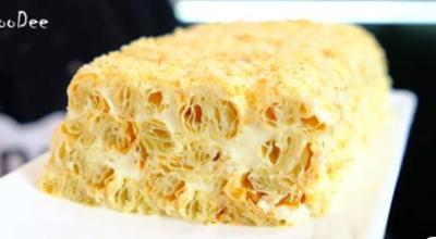 Торт из 3 ингредиентов – лучше Наполеона. Этот десерт – сама нежность
