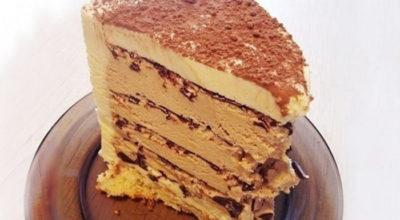 Торт «кофе с шоколадом» без духовки