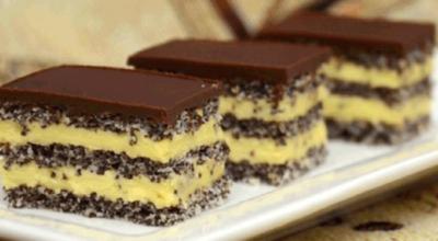 Нежнейший торт с маком и ванильным кремом. Вкуснейшее сочетание