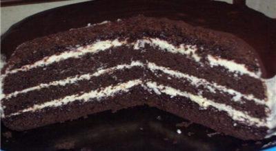Невероятный торт Шоколад на кипятке готовится мега быстро, в духовом шкафу растет прямо на глазах