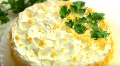 Торт-салат на Пасху. Быстрый, праздничный, нежный