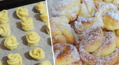 Творожное печенье «Роза»: потратила всего 20 минут, а едим всей семьей уже целую неделю