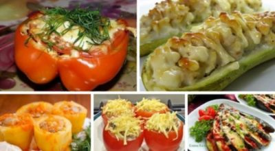 5 потрясающих рецептов фаршированных овощей