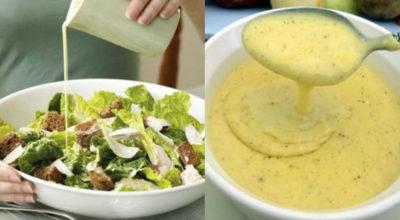 Главной изюминкой этого салата является соус. Мы подобрали для вас 5 лучших соусов