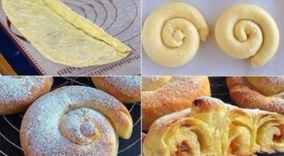 Традиционные испанские булочки «Ensaimadas»