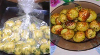 Картофель в рукаве- новый, вкусный и быстрый рецепт