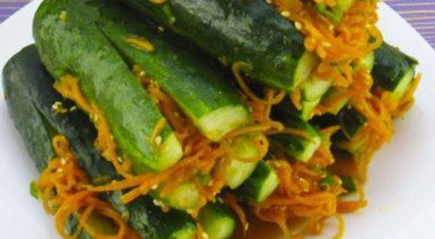 «Огурцы по-корейски» – закуска, которая покоряет сразу