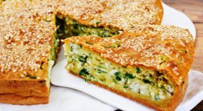 Пирог из моего детства: Моя мамуля постоянно его готовила — Пирог с зеленью и яйцами