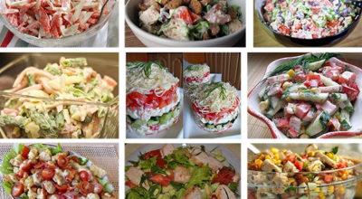 Подборка 10-ти салатов с помидорами