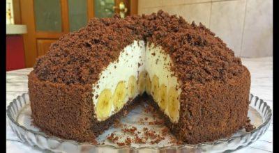 Самый вкусный торт с бананами «Норка крота»