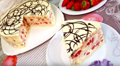 Торт без выпечки «Загадка» за 5 минут