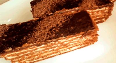 Торт» Тающий». Попробовав кусочек, невозможно остановится