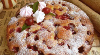 Быстрый вишневый пирог: до чего же вкусный рецепт, но очень простой