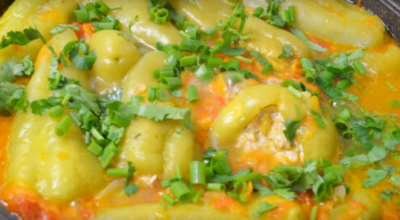 Фаршированный перец — новый рецепт