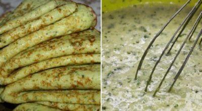 Кабачковые блины со сметаной. Тонкие, легкие, аппетитные — так бы и съела все сама