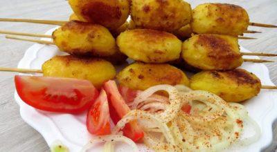Картофельный шашлык. Новый рецепт