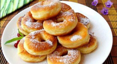 Кефирные пончики за 5 минут. Тают во рту