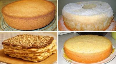 Самые лучшие коржи для тортов. 6 рецептов приготовления