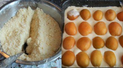 Насыпной пирог с абрикосами и творогом: вкусняшка лучше некуда