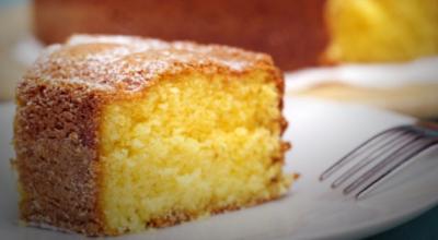 Нежный лимонно-ванильный кекс