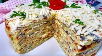 Потрясающе вкусный торт из кабачков