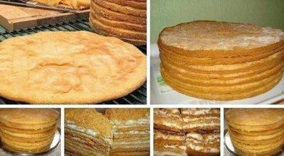 Простые коржи для торта