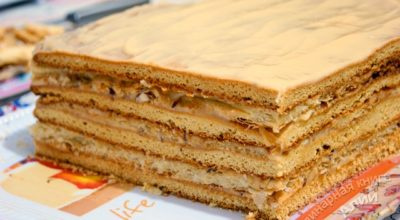 Торт «Арлекин»- это вкуснейший союз «Медовика» и «Наполеона»