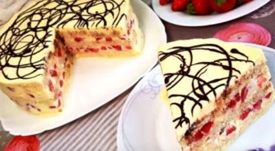 Торт без выпечки «Загадка» всего за 5 минут