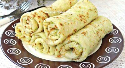 Вкусные кабачковые блинчики можно приготовить на завтрак или на ужин