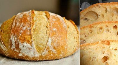 Хлеб бeз замecа. Его я пеку постоянно