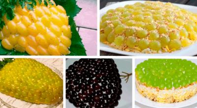 5 рецептов салата Тиффани с курицей и виноградом