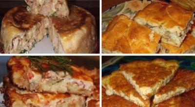 6 отличных рецептов пирогов с разными начинками