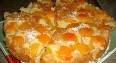 Абрикосовый пирог. Это вкусный и простой рецепт
