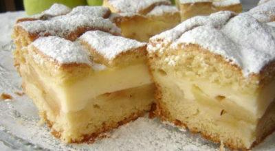 Бесподобно вкусный яблочный пирог с заварным кремом. В разы вкуснее шарлотки