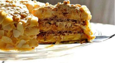 Диетический торт «Египетский» без муки, сахара и масла