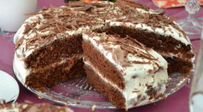 Домашний шоколадный торт на кефире