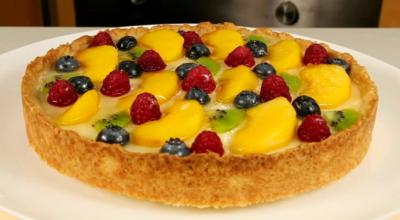 Фруктовый тарт со сметанной начинкой