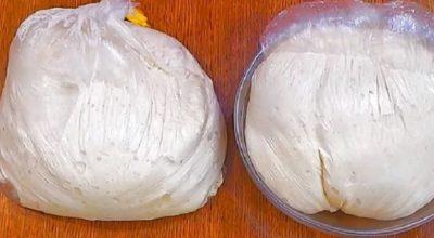 Как сделать отличное дрожжевое тесто, не прикасаясь к нему: и тесто готово, и руки чистые