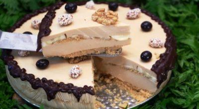 Карамелька — очень вкусный торт без выпечки