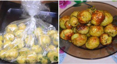 Картофель в рукаве — это новый, вкусный и быстрый рецепт