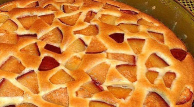 Очень легкий в приготовлении фруктовый пирог