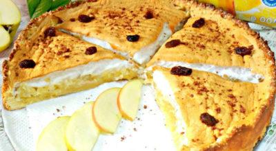 Очень вкусный и нежный яблочный пирог с безе