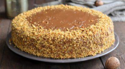 Ореховый торт с вареной сгущенкой — самый любимый