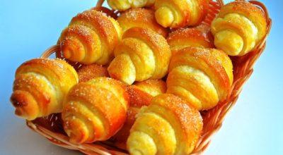 Рецепт дня — сладкие рогалики с обалденно вкусного теста