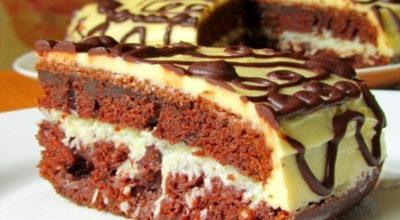 Шоколадный торт с восхитительный кремом