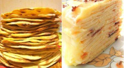 Сказочно вкусный торт с нежным творожным заварным кремом